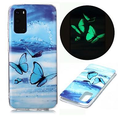 Недорогие Чехол Samsung-чехол для samsung galaxy s20 ultra s10e s9 plus s8 s7 edge s6 s5 a21s a21 a31 m11 свечение в темноте с рисунком задняя крышка бабочка тпу