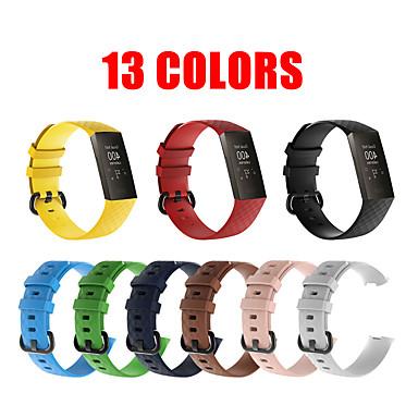 Недорогие Аксессуары для смарт-часов-13 цветов заряда 3 ремешок чистый цвет силиконовые замена смарт-часы браслет зарядка 4 для зарядки FitBit 3 полоса браслет ремень FitBit Band