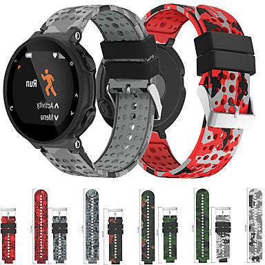 Недорогие Аксессуары для смарт-часов-Камуфляжный силиконовый ремешок для часов Garmin Forerunner 220/230/235/620/630/735 xt сменный браслет ремешок на запястье браслет
