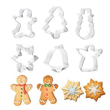 ieftine Ustensile & Gadget-uri de Copt-bucătar de Crăciun tăietor de oțel inoxidabil tăiat bomboane biscuiti mucegai instrumente de gătit Crăciun temă tăietoare metal mucegai fulg de zăpadă