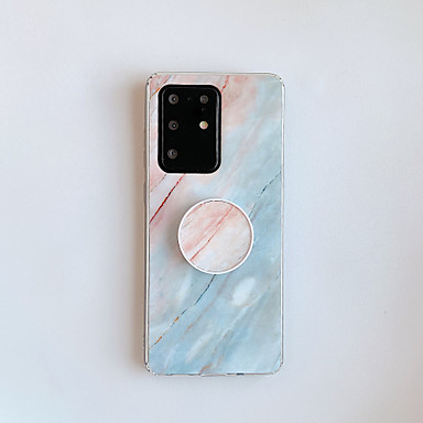 cheap Cell Phone Cases-Case For Samsung Galaxy S7 S7 Edge S8 S8 Plus S9 S9 Plus Note 8 Note 9 S10 S10 Plus S10e S20 S20 Plus S20 Ultra with Stand Pattern Back Cover Marble TPU