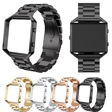Недорогие Аксессуары для смарт-часов-ремешок для часов из нержавеющей стали с ремешком для часов с рамкой для замены fitbit blaze классический браслет ремешок для часов