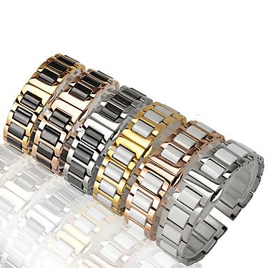 Недорогие Аксессуары для смарт-часов-Ремешок для часов для Samsung Gear S3 Samsung Galaxy Классическая застежка / Дизайн украшения Нержавеющая сталь / Керамика Повязка на запястье