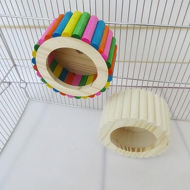 Недорогие Аксессуары для мелких животных-Колеса для тренировки Общий Дерево Радужный