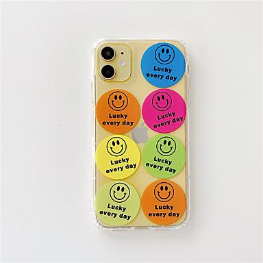 Недорогие Кейсы для iPhone-чехол для apple iphone 11 / 11pro / 11promax / x / xs / xr / xsmax / 8p / 8 / 7p / 7 / se (2020) крышка tpu мультфильм прозрачный чехол для iphone