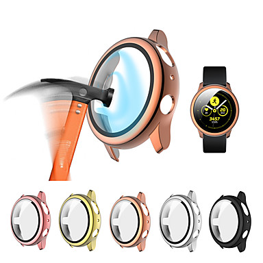 cheap Smartwatch Cases-Glass and case For Samsung Galaxy Active 2 44MM / 40MM Tempered bumper Screen Protector and cover Active 2 watch Accessories