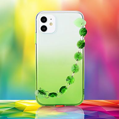 Недорогие Кейсы для iPhone-чехол для apple iphone 6 6s 6p 6sp iphone 7 7p 8 8p iphone x iphone xs iphone xr iphone xs max iphone 11 11 про 11 про макс горный хрусталь задняя крышка цветной градиент тпу