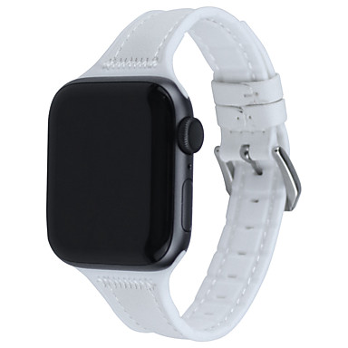 voordelige Apple Watch-bandjes-horlogeband voor apple watch series 5 4 3 2 1 apple lederen lus gewatteerde pu lederen polsband