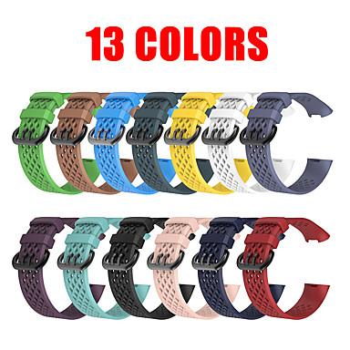 Недорогие Аксессуары для смарт-часов-13 цветов мягкий силиконовый спортивный ремешок для зарядки fitbit 3 браслет ремешок для часов ремешок для зарядки fitbit3 ремешок для часов с металлической пряжкой