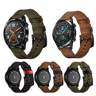 preiswerte Uhrenarmbänder für Huawei-22mm Lederarmband für Huawei Uhr GT 2E / Honor Magic / Magic Uhr 2 46mm / GT2 46mm / GT Aktiv / GT 46mm / Uhr 2 Pro austauschbares Armband Armband Armband