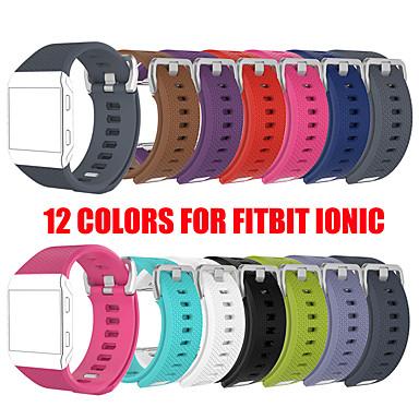 Недорогие Аксессуары для смарт-часов-12 цветов s l размер силиконовые спортивные часы браслеты браслет для fitbit ионный смарт ремешок для часов ремешок регулируемый замена браслет аксессуары