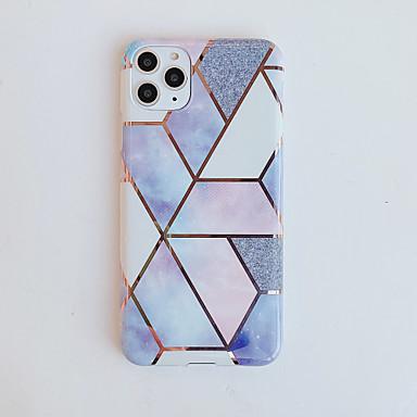 Недорогие Кейсы для iPhone-чехол для apple iphone 7 8 7 плюс 8 плюс x xs xr xs max se 11 11 pro 11 pro max рисунок с гальваническим покрытием задняя крышка мраморный тпу