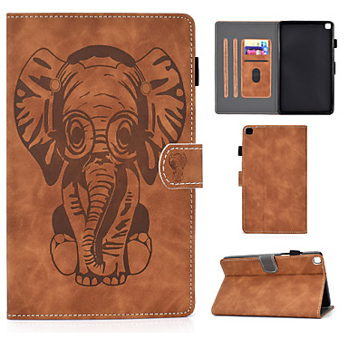Недорогие Чехол Samsung-чехол для samsung galaxy samsung tab a 8.0 (2019) t290 295 держатель для карт противоударный флип чехол для всего тела животное искусственная кожа тпу узор слона