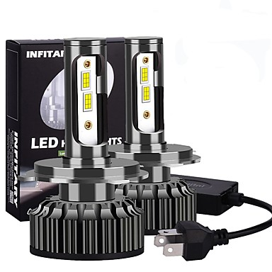 Недорогие Автомобильные фары-INFITARY 2pcs H13 / 9004 / 9007 Автомобиль Лампы 100 W Светодиодная лампа Налобный фонарь Назначение Универсальный