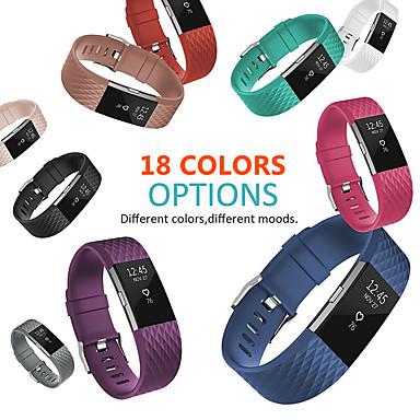 Недорогие Аксессуары для смарт-часов-18 цветов силиконовые сменные полосы для fitbit charge 2-полосный браслет аксессуары браслет браслет ремешок для fitbit charge2 band