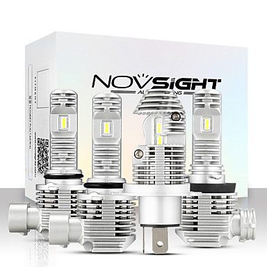 Недорогие Огни для авто-автомобильные лампочки novsight 2шт a500-n36 для h4-h7-h11-9005-9006 40w 8000lm светодиодные фары для универсальных двигателей General Motors все годы с видео настройки