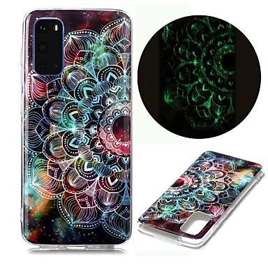 Недорогие Чехол Samsung-чехол для samsung galaxy s20 ultra s10e s9 plus s8 s7 edge s6 s5 a21s a21 a31 m11 свечение в темноте с рисунком задняя крышка цветок тпу