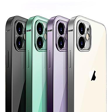 Недорогие Кейсы для iPhone-Роскошная обшивка квадратная рамка прозрачный чехол для iphone 11 pro max 11pro 11 чехол тонкий мягкий тпу прозрачный защитный чехол камеры