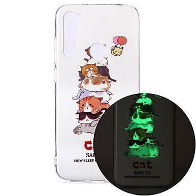Недорогие Чехлы и кейсы для Xiaomi-чехол для xiaomi mi 10 pro 10 lite 5g redmi note 7 7a note 8 pro note 9s светятся в темноте узором задняя крышка кошка тпу