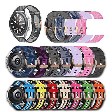 Недорогие Аксессуары для смарт-часов-Нейлоновый ремешок для samsung galaxy watch 3 41 45 мм 42 мм 46 мм gear s3 s2 классический спортивный браслет для galaxy active 2/3 correa