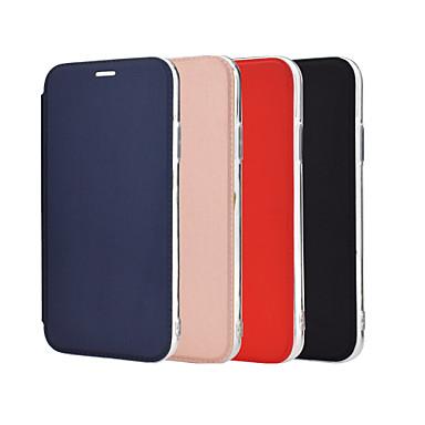 Недорогие Кейсы для iPhone-чехол для яблока iphone 6 6s 7 8 6plus 6splus 7plus 8plus x xr xs xsmax se (2020) iphone 11 11pro 11promax противоударный держатель для зеркала, чехол для всего тела, однотонная искусственная кожа,