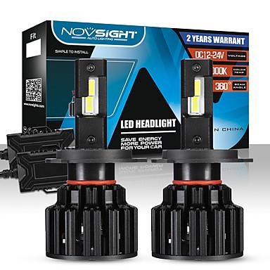Недорогие Автомобильные фары-novsight 2шт a397-f06 для h4 автомобильные лампы 100 вт светодиодные фары для универсальных двигателей General Motors все годы с видео настройки