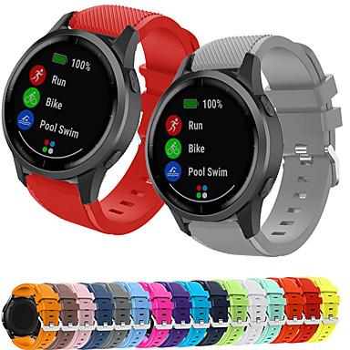 Недорогие Аксессуары для смарт-часов-спортивный силиконовый ремешок для часов для garmin vivoactive 4 / fenix chronos сменный браслет ремешок на запястье браслет