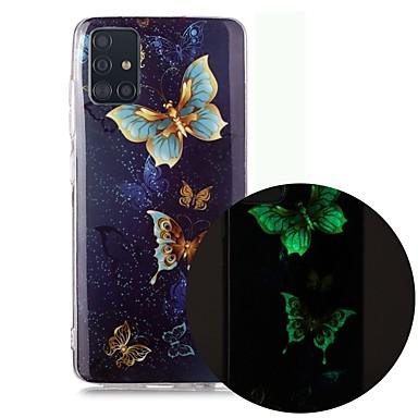 Недорогие Чехол Samsung-чехол для samsung galaxy a51 5g a71 a10 a20e a30s a50 a40 a70 a70e a10s a20s a11 a01 свечение в темноте с рисунком задняя крышка бабочка тпу