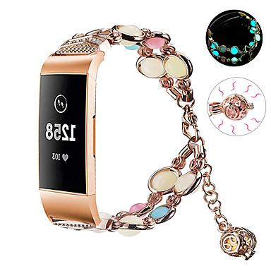 Недорогие Аксессуары для смарт-часов-браслет ночь светящиеся бусины для fitbit charge 4 умный браслет ремешок из нержавеющей стали ремешок для часов