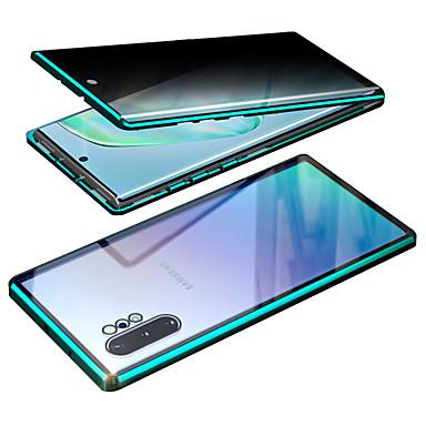 Недорогие Чехол Samsung-металлический магнитный чехол для galaxy s10 lite / samsung galaxy a20 (2019) / samsung galaxy a30, двухсторонний чехол из закаленного стекла для телефона pritective