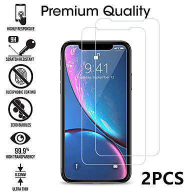 cheap Screen Protectors-2PCS Tempered Glass For iphone X XS 11 Pro Max XR 7 8 Screen Protector SE 2020 protective Glass on iphone 7 8 6s Plus X 11 Pro glass