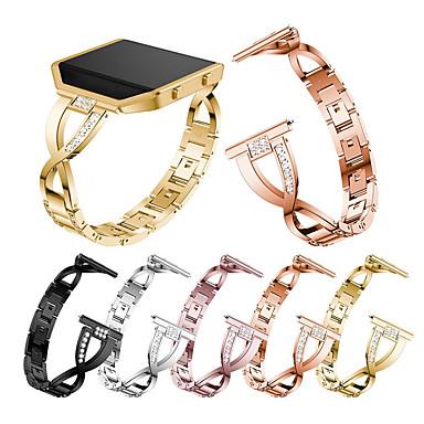 Недорогие Аксессуары для смарт-часов-Кристалл металлический ремешок для часов для мужчин fitbit blaze - часы для женщин - ремешок для замены браслета браслет для fitbit blaze