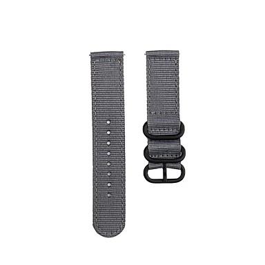 ieftine Uita-te Benzi pentru Ticwatch-Bandă de ceas de modă curea de nailon neagră cu 3 inele cataramă pentru ticwatch pro / ticwatch s2 / ticwatch e2 ticwatch bandă sport / cataramă clasică / bandă de afaceri curea de încheietura nylon