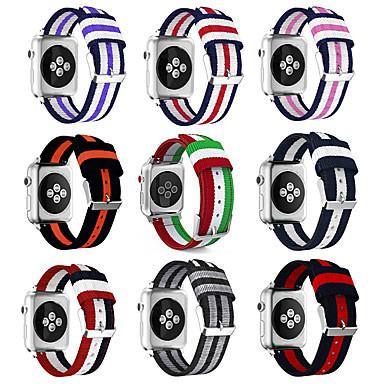Недорогие Аксессуары для смарт-часов-Ремешок для часов для Серия Apple Watch 5/4/3/2/1 Apple Классическая застежка Нейлон Повязка на запястье