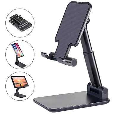 cheap Phone Holder-Phone Support For iPhone iPad iPhone SE 2/11/ 11 Pro/XS Max Phone Stand Holder Adjustable Metal Desktop Tablet Holder Upgraded Height Increasing Desk Phone Holder for Cell Phone