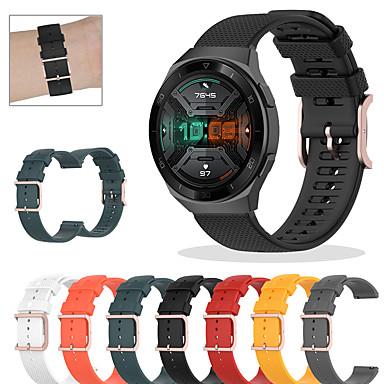 Недорогие Ремешки для часов Huawei-спортивный силиконовый ремешок для часов для часов huawei gt 2e / gt2 42 мм / gt2 46 мм / honor magic / magic watch 2 42 мм 46 мм / gt active / watch 2 / watch 2 pro сменный браслет ремешок на