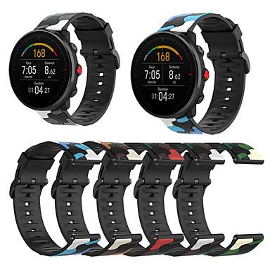 Недорогие Аксессуары для смарт-часов-Силиконовый ремешок для часов с камуфляжным принтом для polar vantage m / grit x / ignite, сменный браслет, ремешок на запястье, браслет
