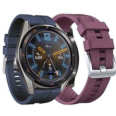 Недорогие Ремешки для часов Huawei-Ремешок для часов для Часы Huawei GT 46мм Huawei Классическая застежка силиконовый Повязка на запястье