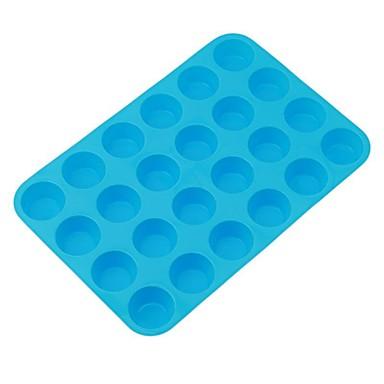 ieftine Ustensile & Gadget-uri de Copt-24 căni muffin silicon cupcake tigaie antiaderentă mașină de spălat vase microunde sigur mucegai de coacere silicon