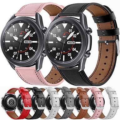 Недорогие Аксессуары для мобильных телефонов-ремешок для часов для samsung galaxy watch 3 45 мм классическая пряжка ремешок из натуральной кожи на запястье