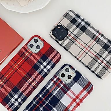 Недорогие Кейсы для iPhone-чехол для apple iphone 7 8 7plus 8plus x xr xs xsmax se (2020) iphone 11 11pro 11promax противоударный ультратонкий узор задняя крышка с геометрическим узором текстиль тпу