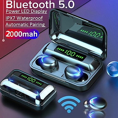 ieftine Căști-litbest f9-5 tws adevărate căști wireless 2000mah power bank bluetooth 5.0 stereo sport căști fitness fitness paring auto asistent vocal control tactil led display