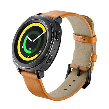 Недорогие Аксессуары для смарт-часов-Ремешок для часов для Gear Sport Samsung Galaxy Кожаный ремешок Натуральная кожа Повязка на запястье
