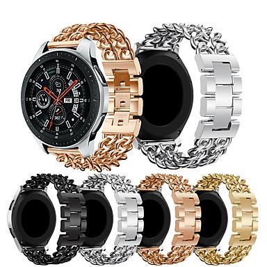 Недорогие Аксессуары для смарт-часов-Ремешок для часов для Gear S3 Classic LTE / Gear 2 R380 / Gear 2 Neo R381 Samsung Galaxy Бизнес группа Нержавеющая сталь Повязка на запястье