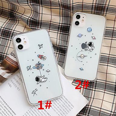Недорогие Кейсы для iPhone-чехол для apple scene map iphone 11 11 pro 11 pro max творческий узор космонавта высокопрозрачный материал тпу устойчивый к перепадам давления чехол для мобильного телефона