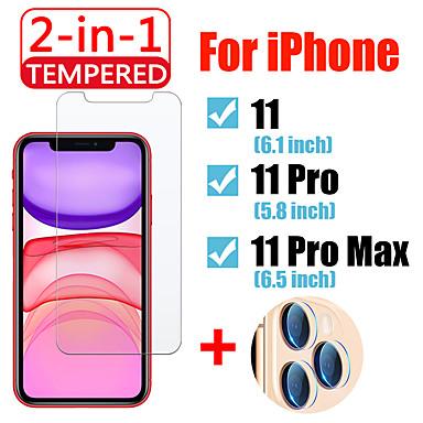 Недорогие Защитные плёнки для экрана iPhone-2в1 для iphone 11 pro max защитное стекло с защитной пленкой для объектива камеры iphone11 11 pro закаленное стекло
