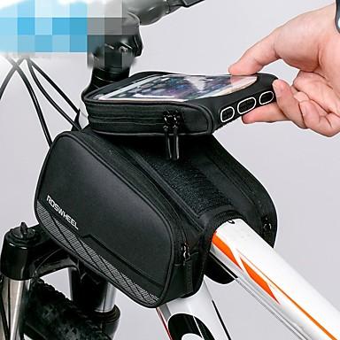 soporte para tel/éfono m/óvil para smartphone 19 x 10 x 7,5 cm Ryoizen Bolsa para cuadro de bicicleta resistente al agua funda para marco de bicicleta con pantalla t/áctil de TPU resistente al agua