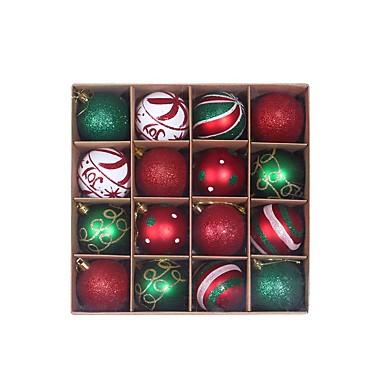Недорогие Украшения для дома-2 коробки 32 шт. Елочные шары украшения для рождественской елки - небьющиеся елочные украшения висят