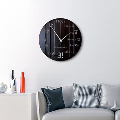 hesapli Ev Dekorasyonu-Modern duvar saati, 11 inç sessiz geçmeyen ayna duvar saatleri pille çalışan ofis, mutfak, oturma odası için dekoratif duvar saati