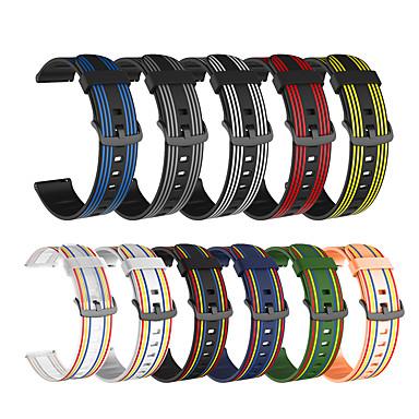 Недорогие Ремешки для часов Huawei-Ремешок для часов для Huawei Watch GT / Амазфит ГТР 42мм / Амазфит ГТР 47мм Amazfit / Huawei Современная застежка силиконовый Повязка на запястье